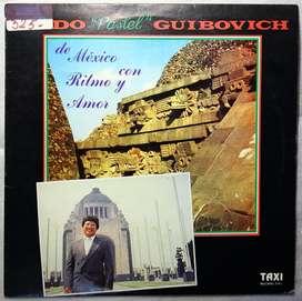 disco vinilo Aldo Guibovich de Mexico con ritmo y amor