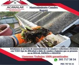 Arreglo de canales aguas lluvia limpieza y arreglo de canales techos tejas cambio