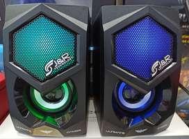 PARLANTES GAMER J&R 5213, luces led RGB