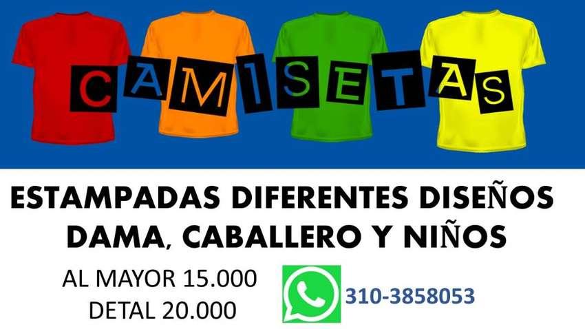 CAMISETAS ESTAMPADAS DAMA, CABALLEROS Y NIÑOS 0