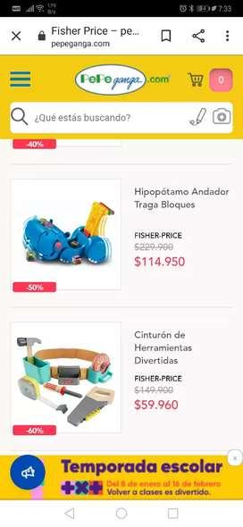 Hipopótamo andador traga bloques Fisher Price