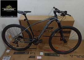 Bicicleta Optimus Aquila MAX 9 Velocidades biplato, rin 29, bloqueo al hombro, freno de disco hidráulico.