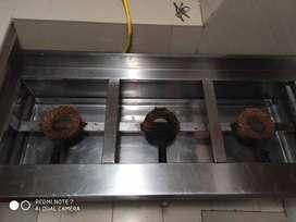 Cocina Industrial 3 quemadores