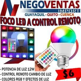 FOCO LED A CONTROL REMOTO