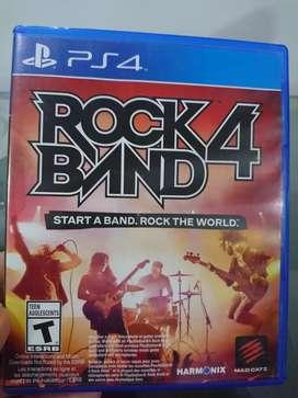 Vendo video juego para play 4 Rock 4 Band