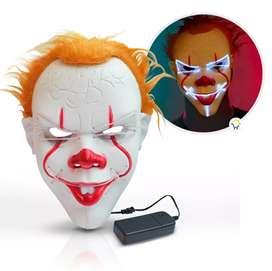 Máscara para Halloween con luces Neón led para Adultos motivos varios envío gratis a nivel navional