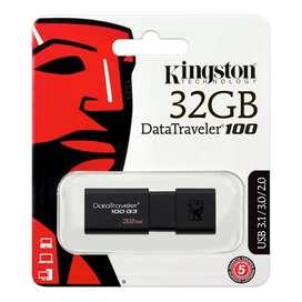 Flash Memory Kingston 32GB USB 3.0 DataTraveler 100 G3 DT100G3/32GB
