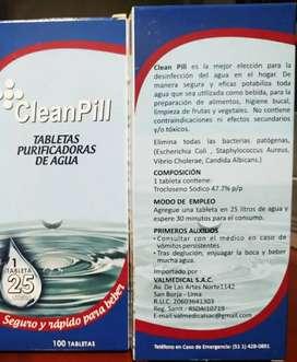 Tabletas purificadoras de agua