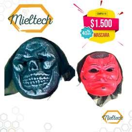 económica Mascara de diablo de bruja, de esqueleto y otras