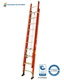 Escalera Extension Fibra 16 Pasos / 5.0 Mts 136 Kg