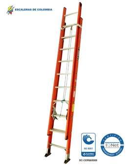 Escalera Extension Fibra 16 Pasos / 5.0 Mts 136 Kg