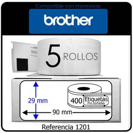 2000 Etiquetas Adhesivas Dk 1201 Para Impresora Brother pre cortadas