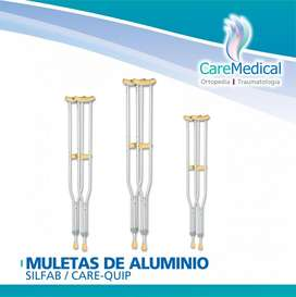 Muletas de Aluminio Silfab / PTM - Tamaño S /M -Ortopedia Care Medical
