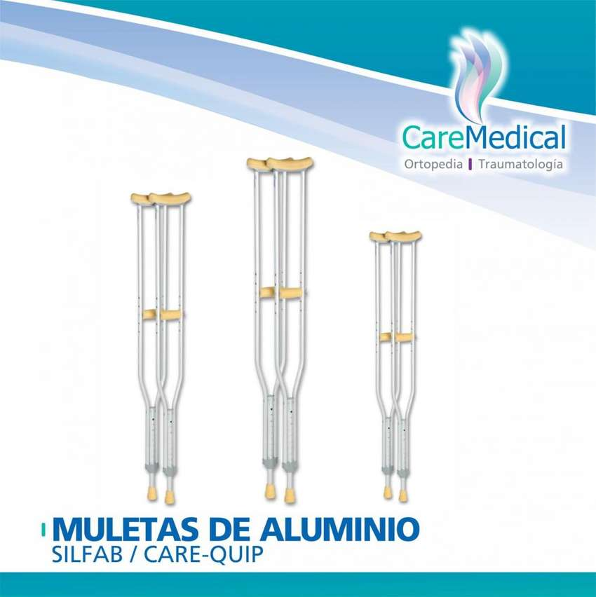 Muletas de Aluminio Silfab / PTM - Tamaño S /M - Ortopedia Care Medical 0