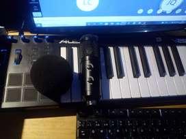 Teclado Piano MIDI + micrófono de condensador USB + Accesorios