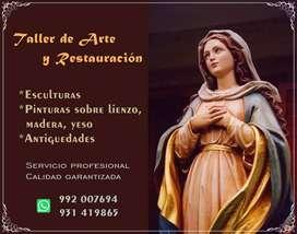 Taller de Arte y Restauración de imágenes (pintura, escultura, religiosas, lienzos, antigüedades, clases y reparaciones)