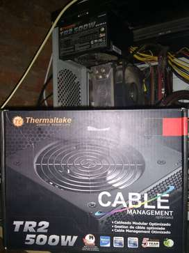 Fuente Thermaltake TR2 500W reales