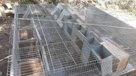 Vendo jaulas para conejo de 10 compartimentos con sus paridera y comederos