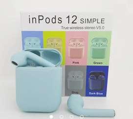 Audífonos Bluetooth inalámbricos inpods 12 simple