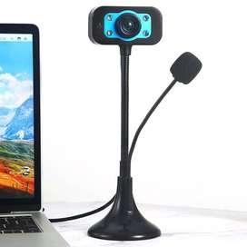 Webcam con 480P , Webcam con USB y micrófono con cancelación de ruido, Webcam para ordenador de casa, PC, oficina, estud