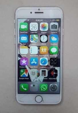 iPhone7 128GB Silver USADO, PERFECTO estado case y protector pantalla