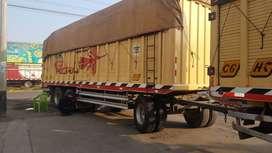 Burra carrocería de Madera 3 ejes suspensión muelle