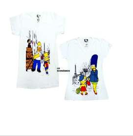 Camisetas Simpson de pareja