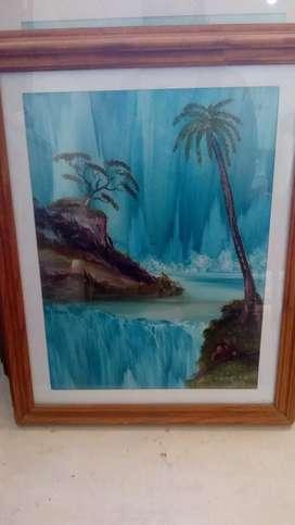 Líquido!! Lote de 6 cuadros,con pinturas originales,artista Nestor Albouy..