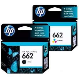 TINTA HP 662 TRICOLOR Y NEGRO ORIGINALES