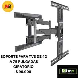 Soporte Tv de 42 a 75 pulgadas Extensible Doble Nb North Bayou