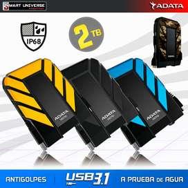 Disco Duro 2tb Externo Adata Hd710pro Antigolpes Agua