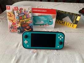 Nintendo switch light + 2 Juegos + forro ergonomico
