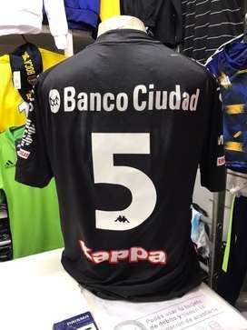 Camiseta huracan kappa negra nro 5