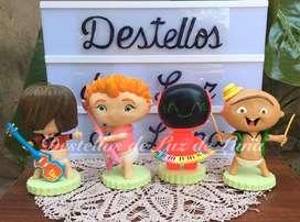 Centros de torta-Souvenirs-Velas Personalizadas