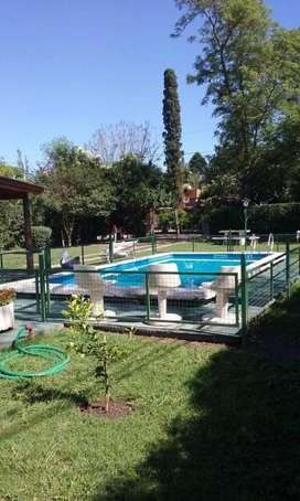 lq56 - Casa para 4 a 8 personas con pileta y cochera en Villa Nueva