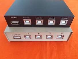 USB y VGA VGA switch de 2 y 4 puertos para compartir impresora y monitor de computador