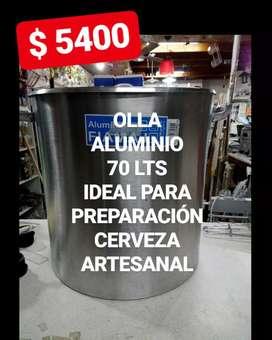 OLLA DE ALUMINIO DE 70 LTS