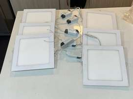6 Panel LED de incrustar color calido usadas en excelente estado 18W