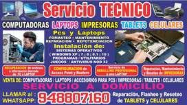SERVICIO TECNICO DE PC - LAPTOP - IMPRESORA - TABLET - CELULAR