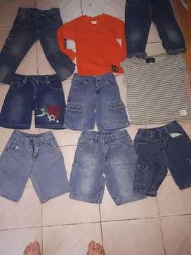 Bermudas y ropa para  niños