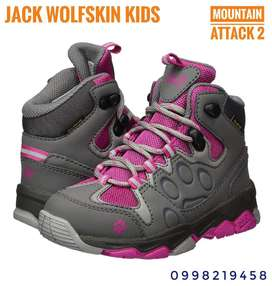 Botas Jack Wolfskin Kids Mountain Impermeables para niñas, Talla 11 US.