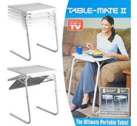 Mesa Table Mate Ajustable Multiusos Portátil Plegable Nueva
