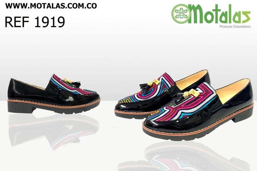 Zapatos Artesanales en Tela Mola. Motalas 0