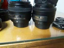 Lente 50 mm y 35 mm fijo ambos con autofoco