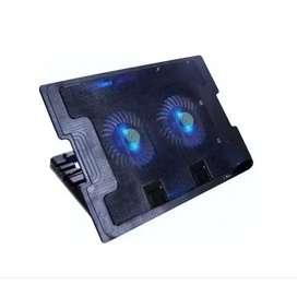 Base Refiregerante Para Portatil Laptop 2 Ventiladores 2 Usb