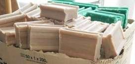 Jabon ocre o verde 250 grs caja x 50 unid