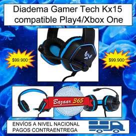 Diadema Gamer Tech Kx15 compatible Play4/Xbox One