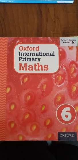 Libro de matemáticas en ingles Oxford International Primary math  6