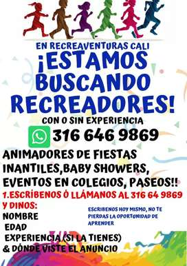 BUSCAMOS ANIMADORES DE FIESTAS INFANTILES/ RECREACIONISTAS