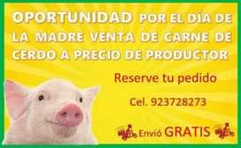 Venta de carne de Cerdo
